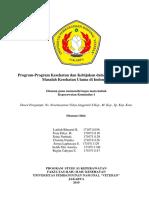 Program-Program Kesehatan Dan Kebijakan Dalam Menanggulangi Masalah Kesehatan Utama Di Indonesia