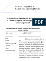 Report on the Comparison of Linux Mint and Windows OS