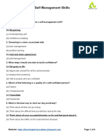 Chapter - Self Management Skills