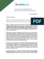 Comunicato Stampa Menocarta Net-Infocert-Menocarta Pro