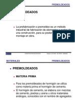 CONSTRUCCION DE EDIFICIOS 2014  MATERIALES PREMOLDEADOS