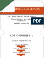 LOS ORIGENES DE LA LENGUA ESPAÑOLA