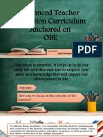 Enhanced Teacher Education Curriculum Anchored on