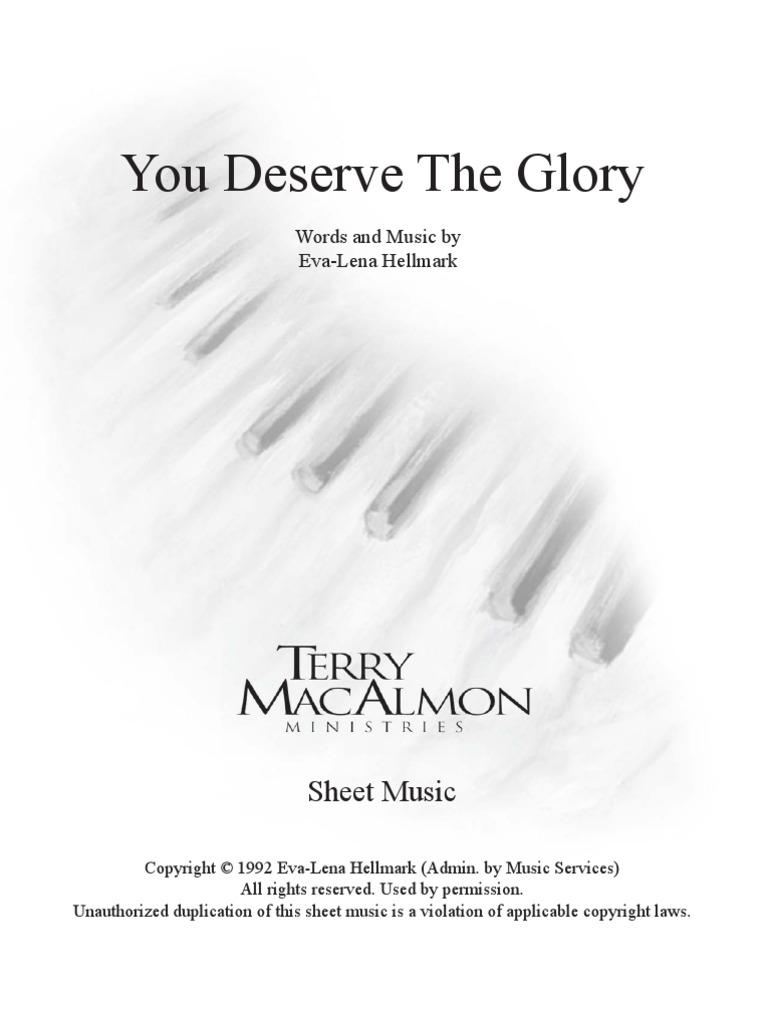 You deserve the glory pdf