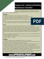Building-Maintenance-Checklist