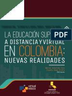 La educación superior a distancia y virtual en Colombia
