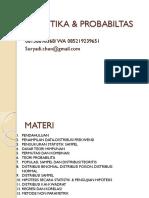 Teori Statistika & Probabilitas