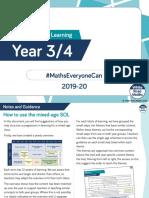 year 3 and year 4 mixed age maths