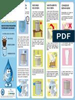 cartilla - sticker uso y cuidado Filtron