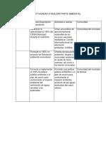 Cronograma de Actividades Ambiental