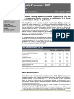 0Paquete Economico 2020