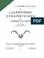 Coléoptères cérambycides de l'Afrique du Nord