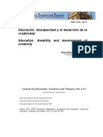 Educación, discapacidad y el desarrollo de la creatividad