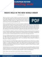 INDIA'S ROLE IN THE NEW WORLD ORDER