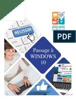 Passage à WINDOWS 10
