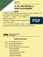 Tema 14. Marqueting y Nuevas Tecnologías
