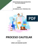 Trabajo Jorge Mamani - Proceso Cautelar