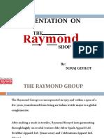 Retailing Ppt on Raymonds