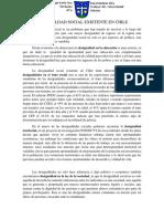 DESIGUALDAD SOCIAL EXISTENTE EN CHILE