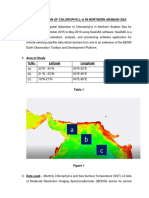 Study of spatial advection of chlorophyl in northern arabian sea