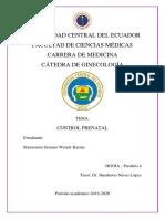 Control Prenatal Monografía