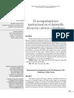 El acompañamiento institucional en el desarrollo  del sector cafetero colombiano