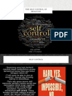 The Self Control of Behavior