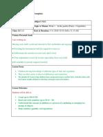 Peer Obserfation Lesson Plan