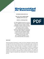 Informe de laboratorio respiración celular