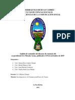 RENUNCIA DE EVO MORALES