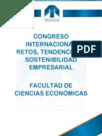 Agenda Congreso Congreso Internacional Retos, Tendencias y Sostenibilidad Empresarial