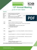 20191212 ICE Spain 12th Annual Meeting Agenda