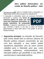 Educação e esfera pública democrática