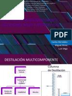 DESTILACIÓN MULTICOMPONENTE, ECUACIONES MESH Y MÉTODO FUG (1)