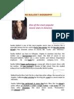 Sandra Bullock´s Biography