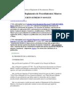 D.S. N° 018-92-EM Reglamento de Procedimientos Mineros (1)