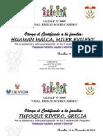 Modelo Diploma Familias Fuertes 2019