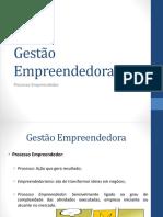 03 - Gestão Empreendedora - Processo Empreendedor