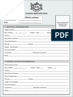 Soya g Franchise Application Form