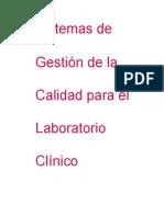 Sistemas de Gestion de Calidad Para El Laboratorio Clinico