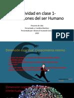 Actividad en Clase 1- Dimensiones Del Ser Humano