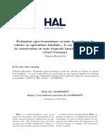 Evaluation Agro-economique Ex-Ante de Systemes