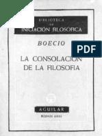 Boecio- La consolación de la filosofía