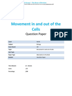 3 Movement in and Out of Cells CIE IGCSE Biology Practicals QP
