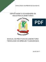 MANUAL DE PRÁCTICAS DE TECNOLOGÍA DE CEREALES Y OLEAGINOSAS