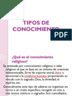 TIPOS DE CONOCIMIENTO UPN LIE