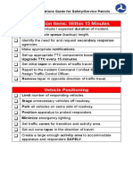 Field Operations Guide for Safety or Service Patrols-Checklist