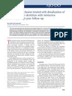 Chen 2015 Chen, K. y Cao, Y. (2015). Maloclusión de Clase III Tratada Con Distalización de La Dentición Mandibular Con Anclaje de Miniscrew Un Seguimiento de 2 Años.