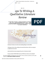 Eight Steps to Literature Review