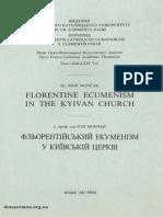 Florentine Ecumenism in the Kyivan Church - I. Moncak